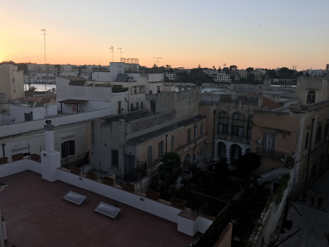 Brindisi AirBnB Balcony Sunset View