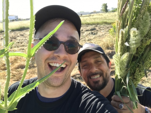 Francesco Of Team Italy And Myself Foraging!